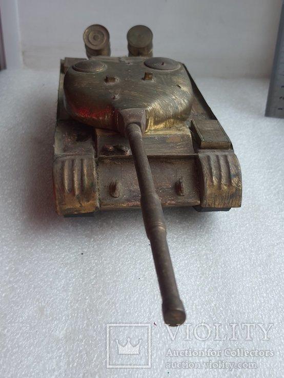 Скульптура-модель бронзового танка Тяжелый больше 5 кг, фото №10