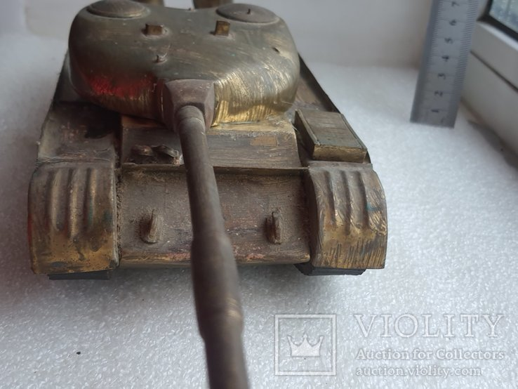 Скульптура-модель бронзового танка Тяжелый больше 5 кг, фото №11