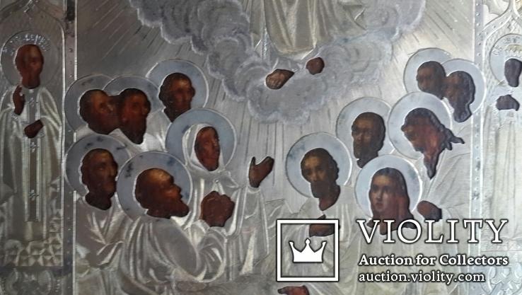 Вознесение Господне. Серебро 84 пробы. 1879 год., фото №5