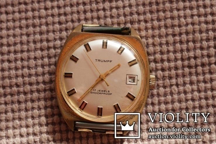 Часы механическиеTrumpf 17 камней Германия 1960-1970 годы