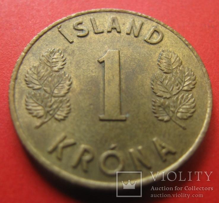 Ісландія 1 крона 1966, фото №2