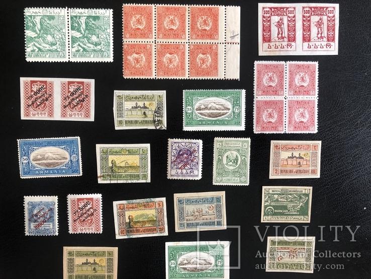 Марки Гражданской войны. Сцепки и марки