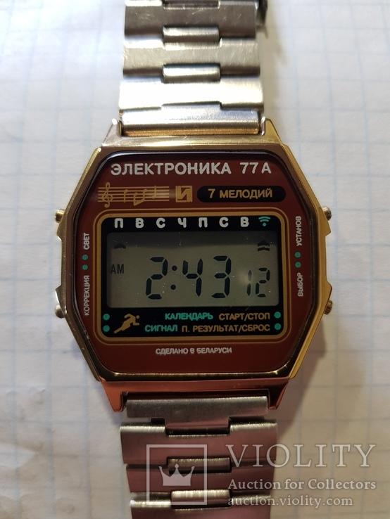 Часы электроника 77а