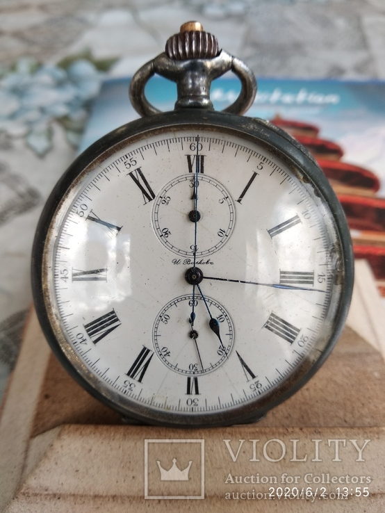 Хронограф longines серебро