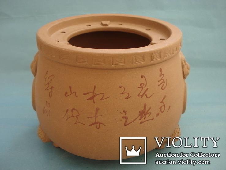 Исинская глина, керамический набор-подставка для заваривания чая, фото №5