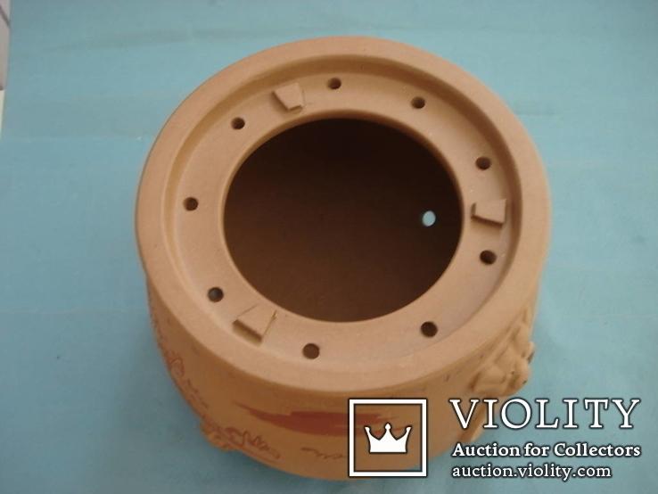 Исинская глина, керамический набор-подставка для заваривания чая, фото №6