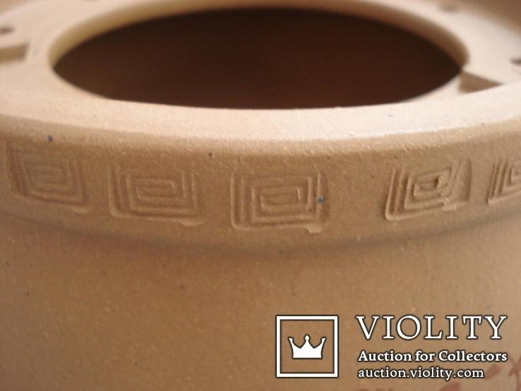 Исинская глина, керамический набор-подставка для заваривания чая, фото №11
