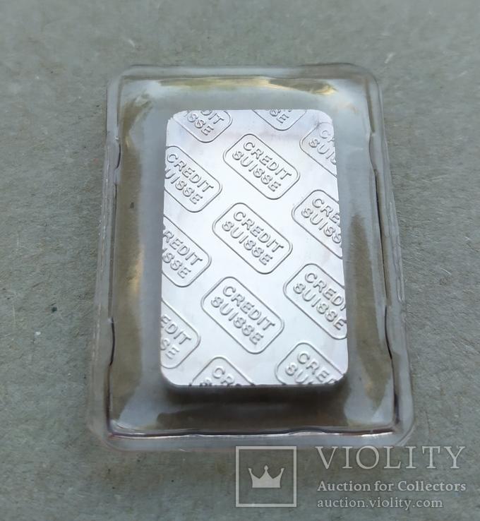 Слиток серебро 999 вес 10 грамм, фото №3