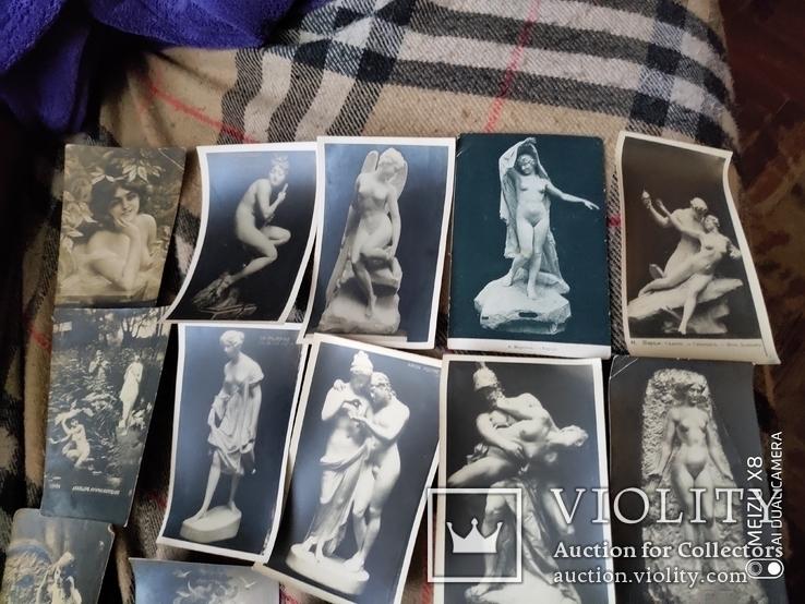 25 старинных открытки до 1917г в стиле ню, фото №3