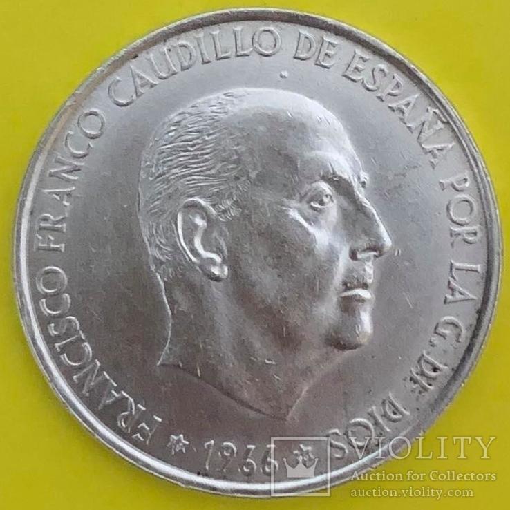 Іспанія 100 песет, 1966р. Срібло., фото №2