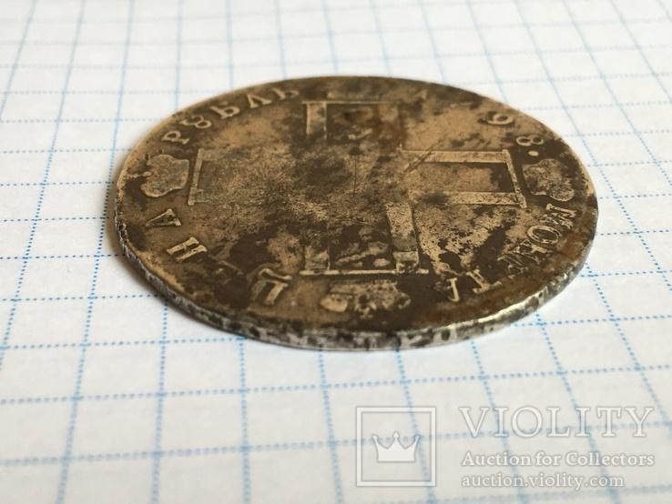 1 рубль 1798 года СМ-МБ см. видеообзор, фото №9