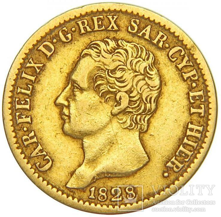 20 Лир 1828, Италия, Сардиния