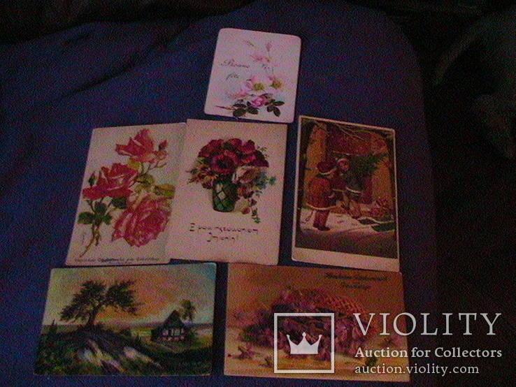 6 дореволюционных иностранных  открыток, фото №2