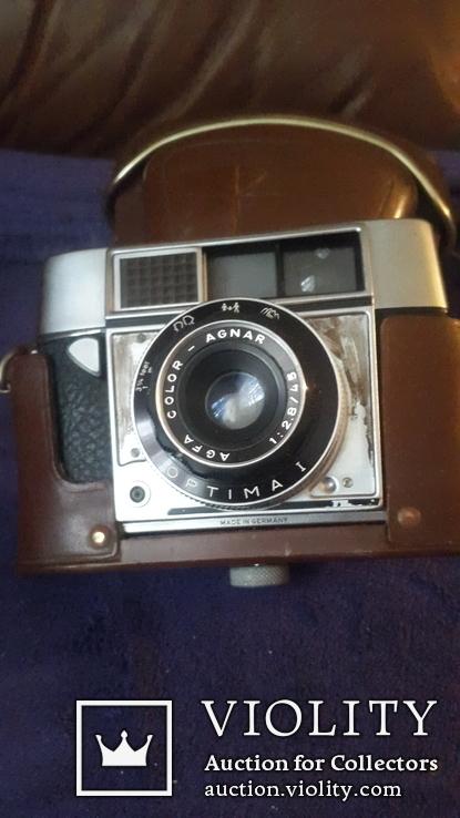 Ретро фотоаппарат Agfa  в чехле, фото №2