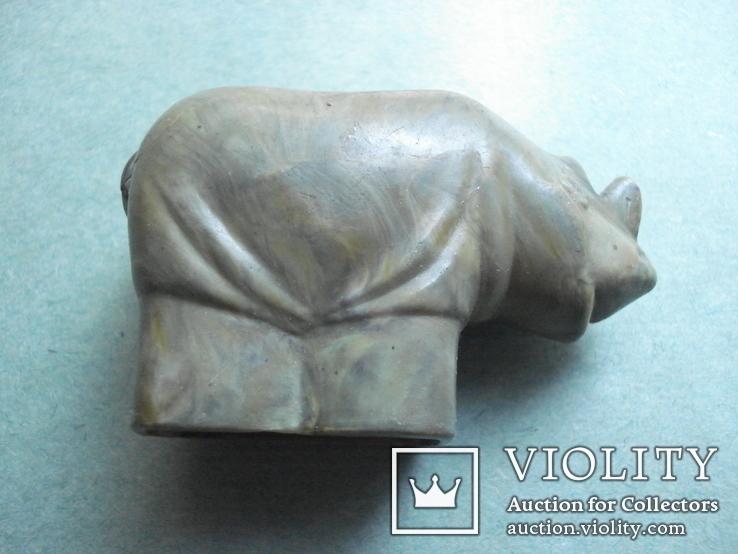 Точилка для карандашей. Носорог. Винтаж. СССР, фото №2