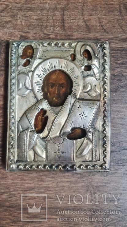 Икона Святого Николая 19 век, фото №7