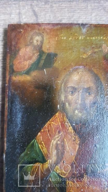 Икона Святого Николая 19 век, фото №11