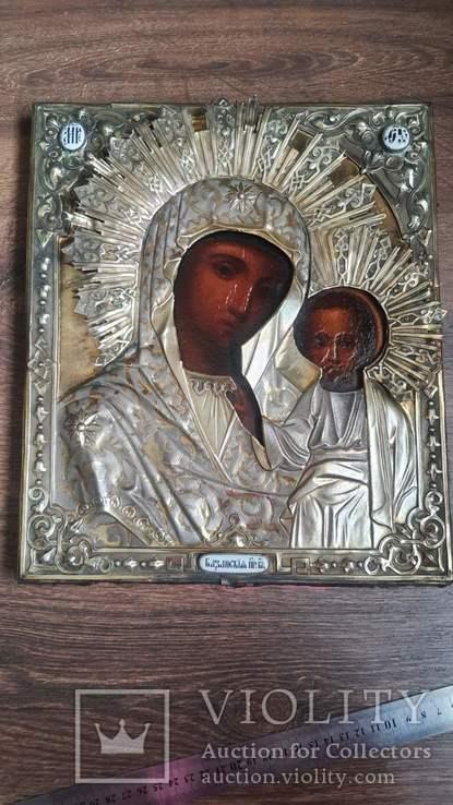Икона Казанская Богородица в серебре 84* финифти, фото №3