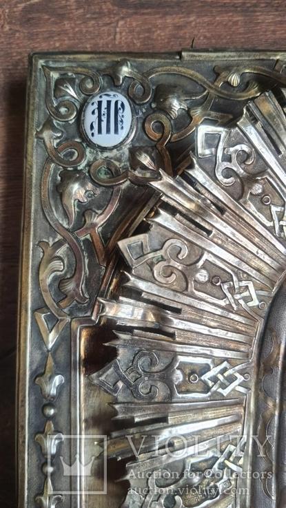 Икона Казанская Богородица в серебре 84* финифти, фото №4