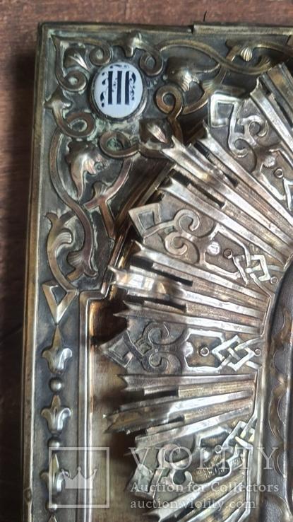 Икона Казанская Богородица в серебре 84* финифти, фото №5