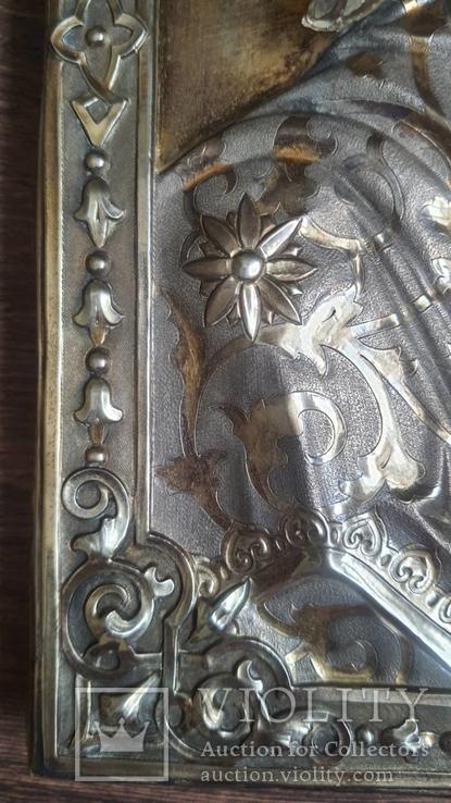 Икона Казанская Богородица в серебре 84* финифти, фото №8