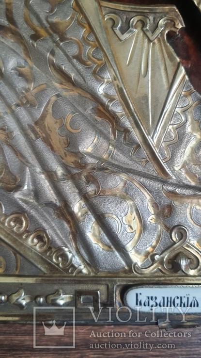 Икона Казанская Богородица в серебре 84* финифти, фото №10