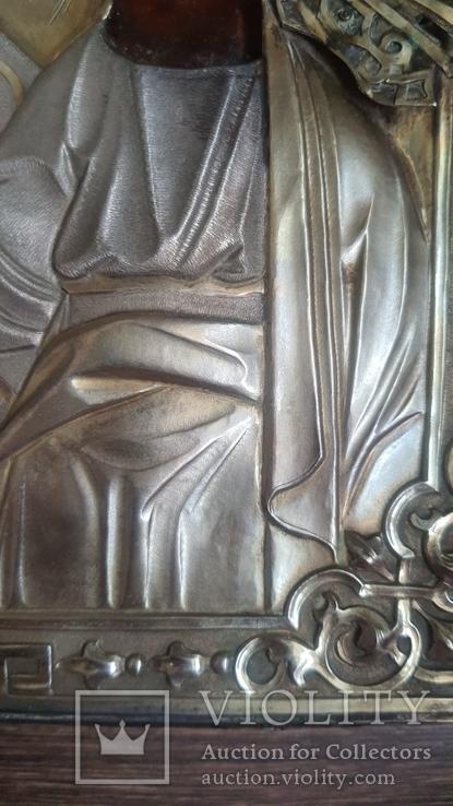 Икона Казанская Богородица в серебре 84* финифти, фото №13