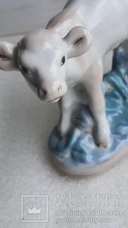 Статуэтка телёнок Старая Гжель, фото №6