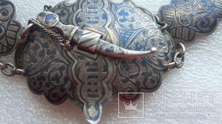 Женский серебряный пояс 84*, фото №4