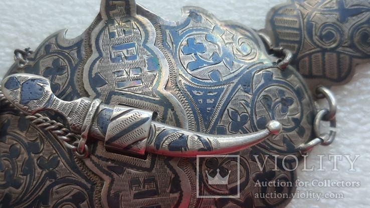 Женский серебряный пояс 84*, фото №5