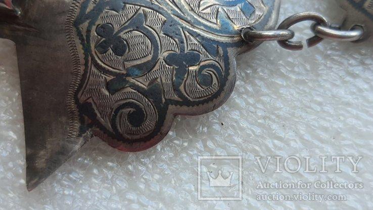 Женский серебряный пояс 84*, фото №8