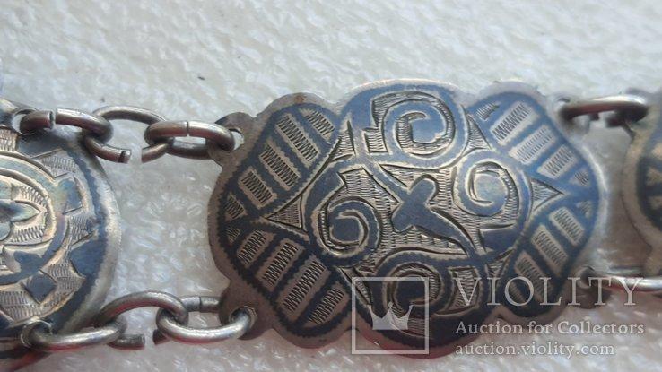 Женский серебряный пояс 84*, фото №9