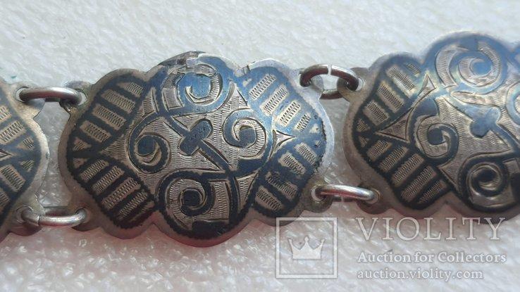 Женский серебряный пояс 84*, фото №11