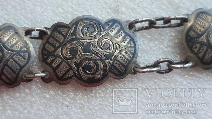 Женский серебряный пояс 84*, фото №13