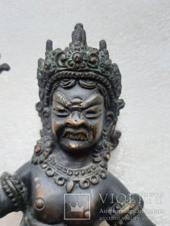 Старинная бронзовая(красная бронза) скульптура Тибетская, фото №6