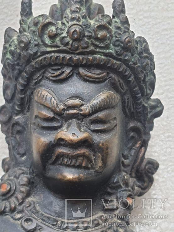 Старинная бронзовая(красная бронза) скульптура Тибетская, фото №7