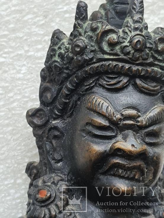 Старинная бронзовая(красная бронза) скульптура Тибетская, фото №11
