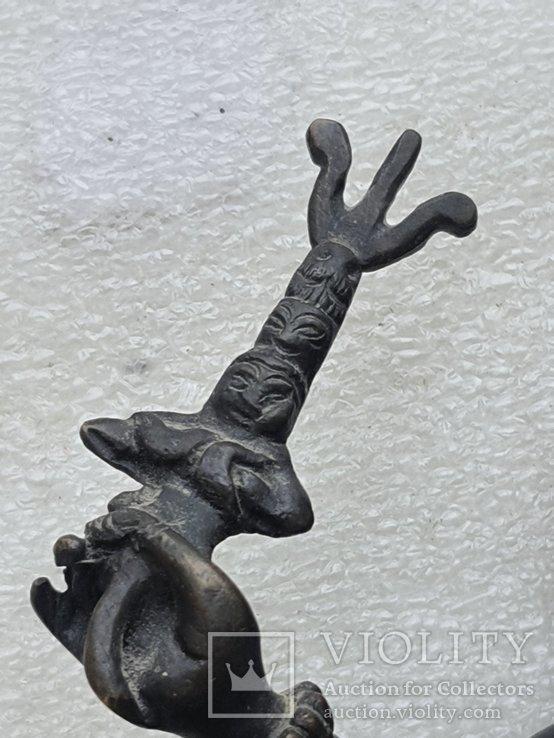 Старинная бронзовая(красная бронза) скульптура Тибетская, фото №13