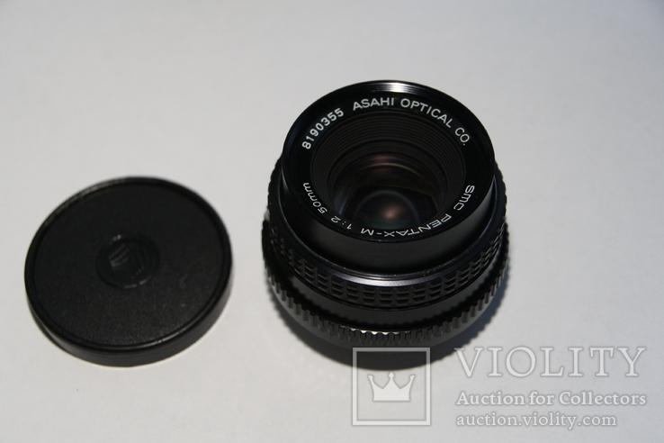 Объектив PENTAX-M. 1-2. 50mm. № 45.2, фото №2