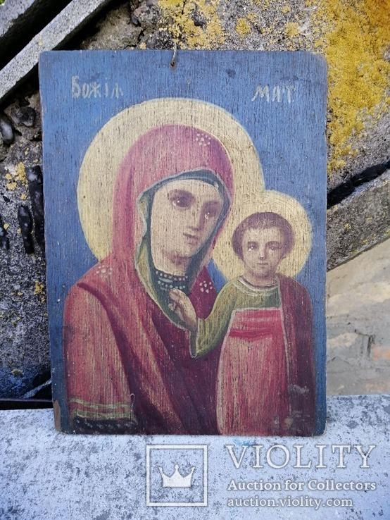 Казанская икона Богородицы. Народного письма 19-20 век., фото №2