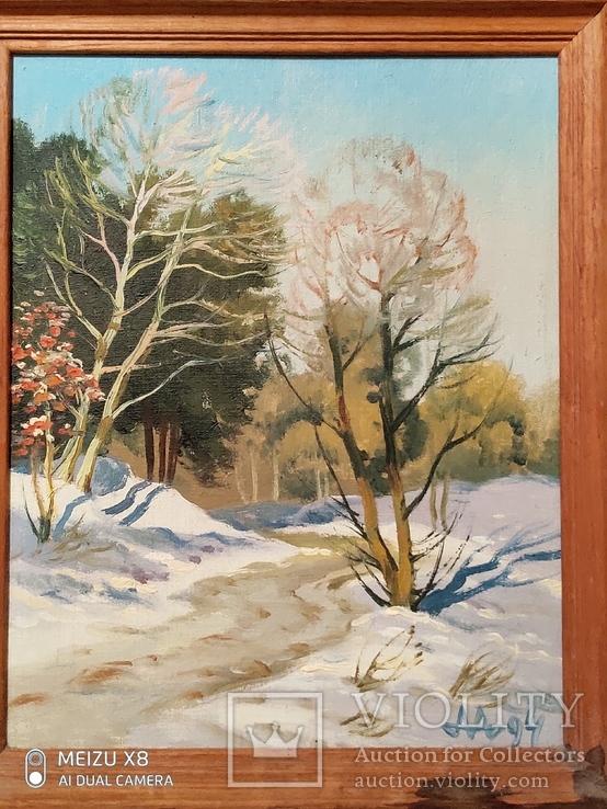 Картина в раме пейзаж,холст,масло автор Алатарцев, фото №3