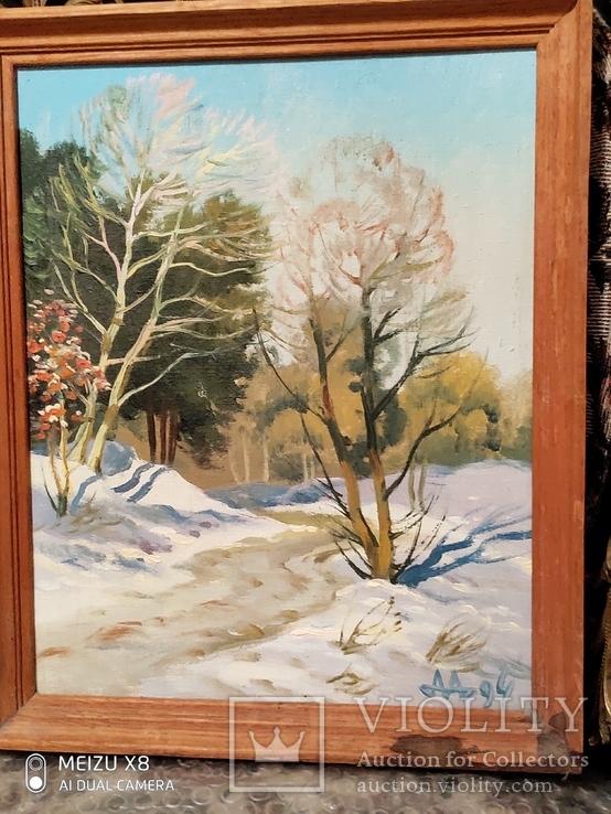 Картина в раме пейзаж,холст,масло автор Алатарцев, фото №6