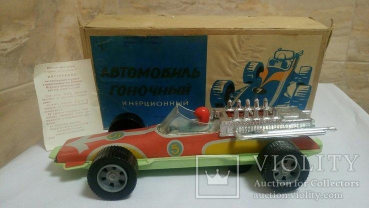 Новый  автомобиль 29 см. инерционный гоночный болид коробка вкладыш цена клеймо СССР