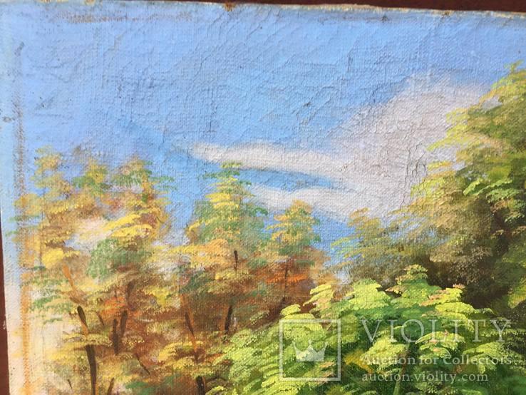 Старая, большая картина холст, масло, 100 х 69 см., фото №11