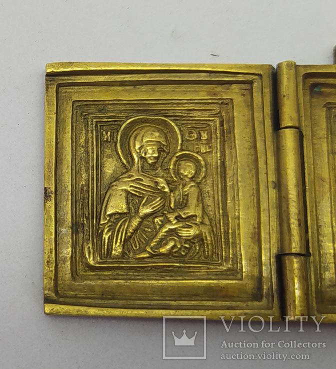 Складень: Богородица Тихвинская, Спас нерукотворный, Сергий и Варлаам., фото №4