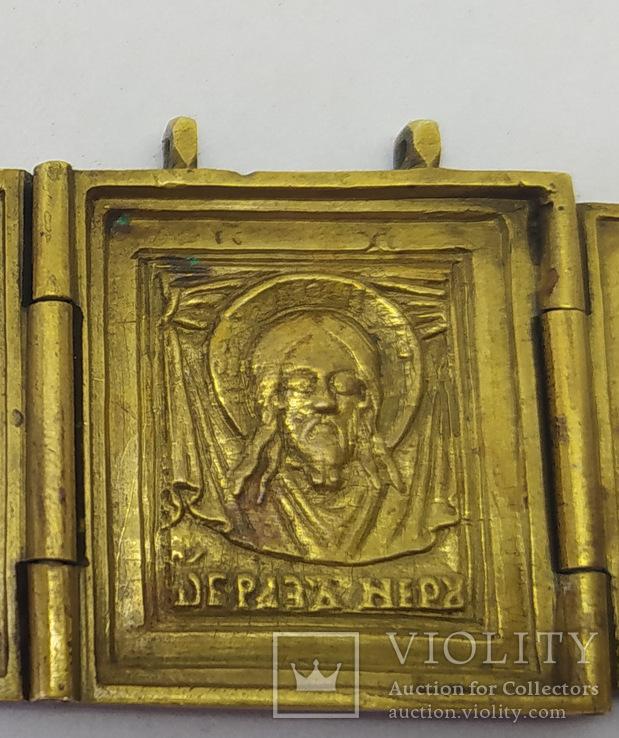 Складень: Богородица Тихвинская, Спас нерукотворный, Сергий и Варлаам., фото №5