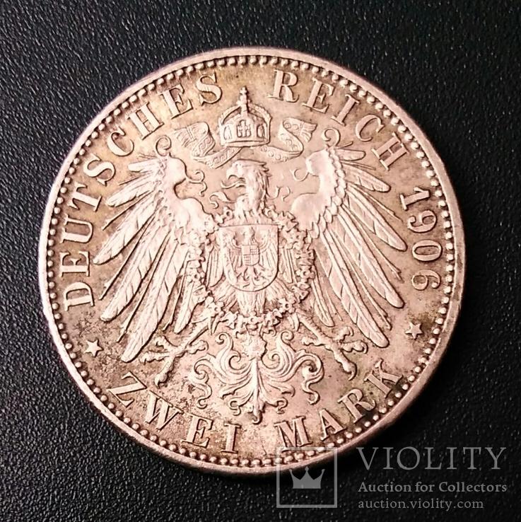 2 марки 1906 р. Баден. Золоте весілля, фото №5