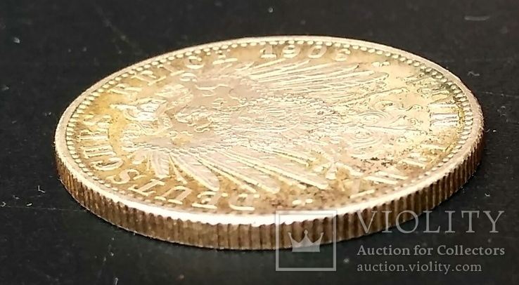 2 марки 1906 р. Баден. Золоте весілля, фото №8