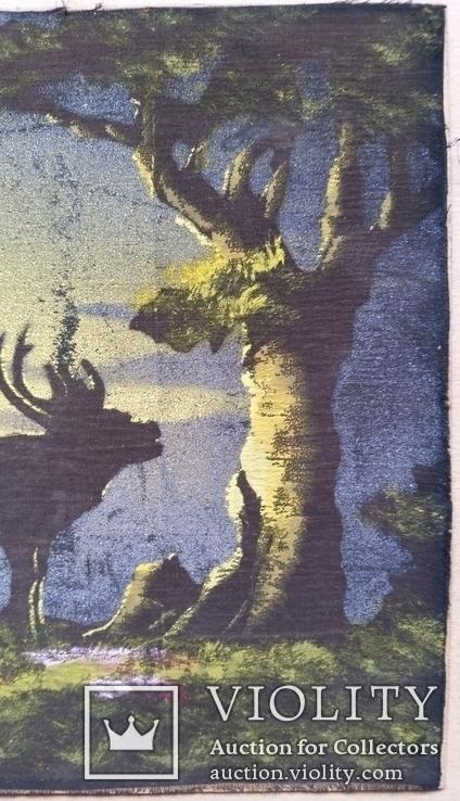 Картина, тканина, картон, акварель,  22х25,5 см, фото №4