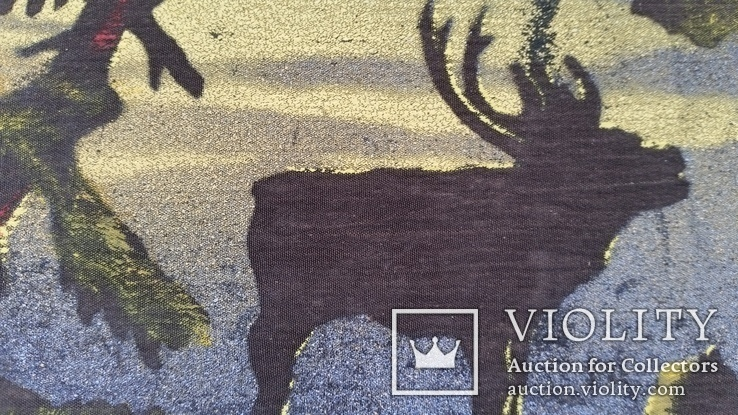 Картина, тканина, картон, акварель,  22х25,5 см, фото №5